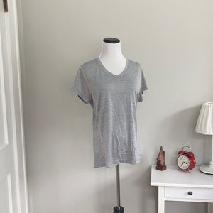 RBX Grey and Peach Athletic T-shirt, Size L